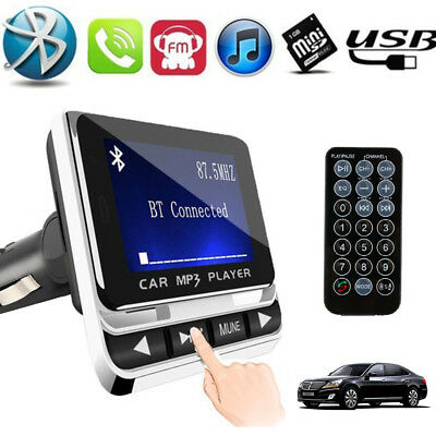 Wireless LCD Bluetooth MP3 FM Transmitter USB Charger Handsfree+Remote US