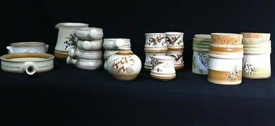 19 TENH Greek Handmade Pottery, Plates, Bowls, Jugs & Storage Containers