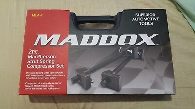 Macpherson Strut Spring Compressor Set Maddox Forged Steel Shocks Case Springs