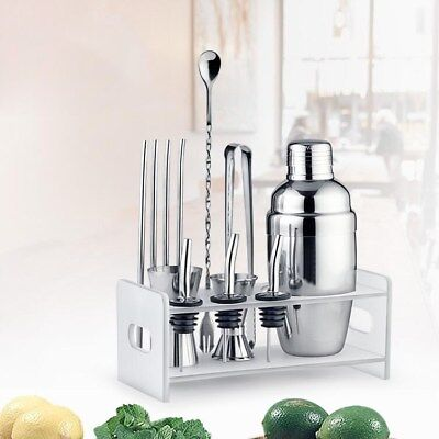 5 PCS Stainless Steel Cocktail Drinks Bar Set Home Bar Cocktail Mixing Kit