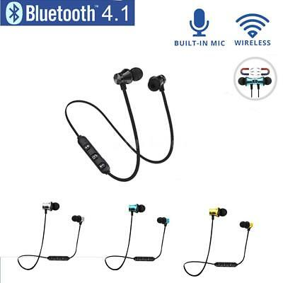 Wireless Magnet Bluetooth 4.1 Stereo Earphone Earbuds Sport Headphones Headsets