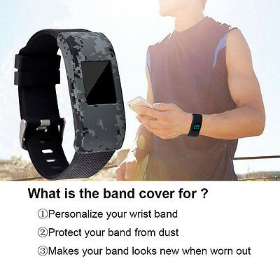 Silicone Rubber Sleeve Protect Case Screen Protector Cover for Fitbit Charge 2