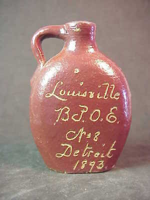 New Hope Sour Mash - Louisville BPOE (Elks) Detroit 1893 - Miniature Whiskey Jug