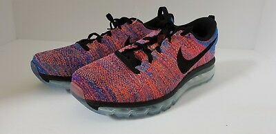 7aa4116277 Nike Flyknit Air Max Size Men's Running Shoes Multi-Color 620469-404 $225