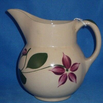 Vintage Watt Pottery Starflower 5 Petal  # 15 Pitcher