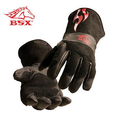 BSX  Prem. Split Cowhide Stick/MIG Gloves  Small Free Shipping Aust Wide
