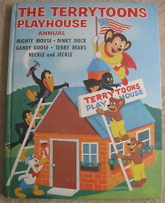 vintage 1960s THE TERRYTOONS PLAYHOUSE ANNUAL HC childrens book Mighty Mouse