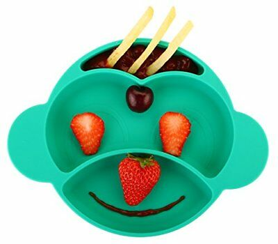 """Toddler Baby Plate Portable BPA-Free FDA Approved Strong Suction Plates 9x8x1.5"""""""