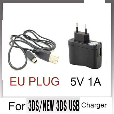 EU POWER AC CHARGER CABLE For Nintendo DSi NDSi DSiXL 3DS 3DSXL/LL NEW3DS /BX