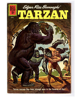 Edgar Rice Burroughs TARZAN #129 in VF condition a DELL 1962 jungle comic