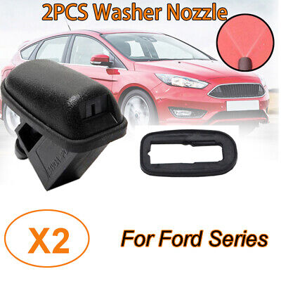 2PCS Windshield Washer Spray Nozzle Fit For Ford Mondeo MK4 Focus MK3 C-max MK4