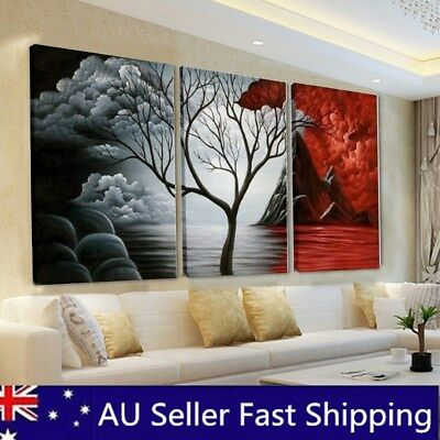 Abstract Canvas Red&Black Print Painting Wall Art Pictures Decor Unframed/Framed