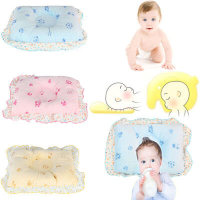 Baby Pillow Newborn Infant Anti Flat Head Cushion Pram Crib Cot Bed Soft Velvet