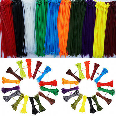 Plastic Nylon Cable Ties Tie Wraps Zip Ties Strong Extra Long All Size & Colour
