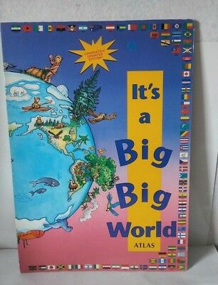 Its a Big Big World Giant Hardcover Childrens Atlas Board Educational Book Map
