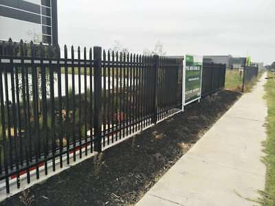 1500mm Spear Top Black Heavy Duty Security Steel fencing fence panels