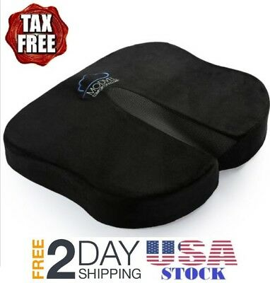 Orthopedic Coccyx Seat Cushion - Foam Tailbone Pillow for Sciatica & Pain Relief