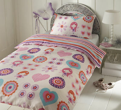 Luxurious Brand New Baby Cot Bed Duvet Cover Set Fairy Pink 120Cm X 150Cm