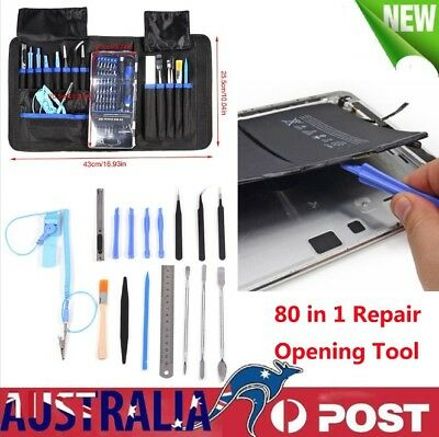 AU Repair Opening Tool Kit Screwdriver Set For Electronic Phones iPad PC 80 in 1