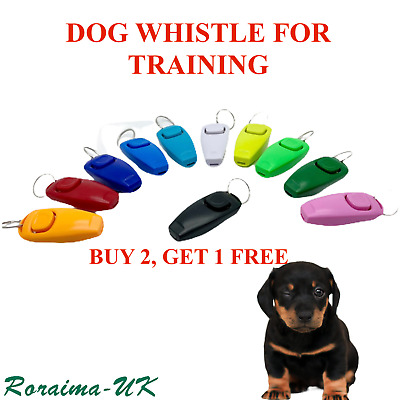 Multi CLICKER WHISTLE EASY DOG PUPPY PET TRAINING Keyring Free Dont need battery