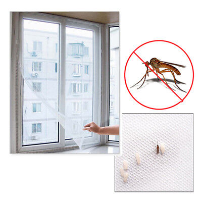Mosquito Door Window Curtain Screen Protector Net Mesh Anti-Insect Fly Bug White