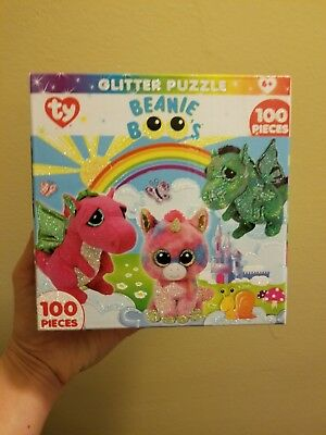 3927002294a TY Fairytale Glitter Puzzle 100 pcs. - Jigsaw Puzzle by MasterPieces (11624)