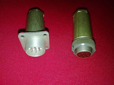 7 Pin RS7TV <USSR Military> Stat Circular Thread Connector, M + F Set