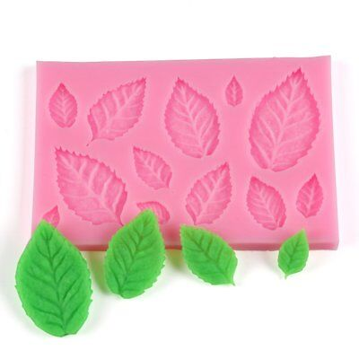 Tree Leaf Shape Fondant Cake Silicone Mold DIY Kitchen Candy Biscuits Mold UP#