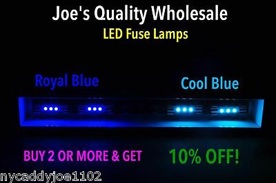 5 Led Fuse Lamps 8V-Blue/receiver/vintage/stereo/2230/sx-770/qx-8000/meter Dial