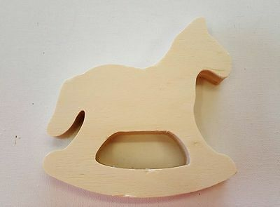 Rocking Horse Toy - Plain Wood Decorate Paint - Kids Christmas Craft Gift Model