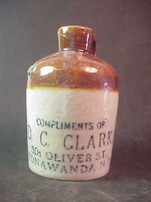 D C Clark - Tonawanda New York - Miniature Whiskey Jug
