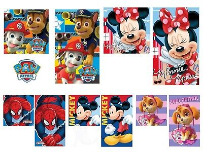 Paw Patrol/Minnie-Mickey Mouse/Spiderman-Handtuch Set-Orig. Neuware