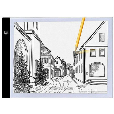 A4 Ultra-thin Portable LED Light Box USB Power Artcraft Tracing Light Pad 0y