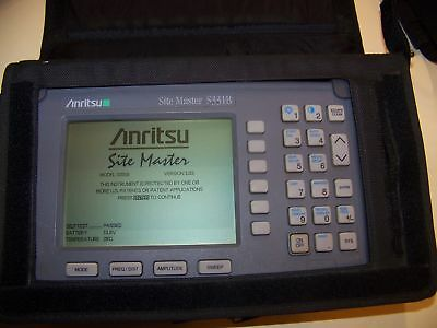 Nice Anritsu S331B Site Master w/New Screen Good Battery, New Charger Full Test!