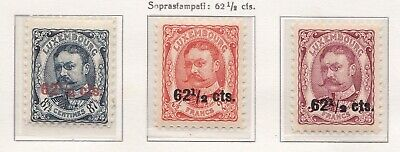 1912-15 LUSSEMBURGO/LUXEMBOURG, n° 86/88 set of 3 MNH/**