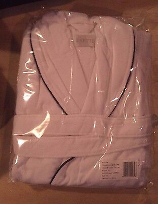 Frette Velour XL Shawl Collar Bathrobe with Black Piping