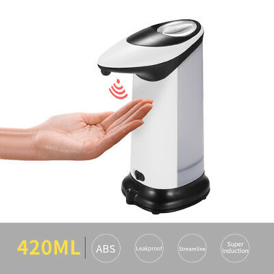 Dispenser Soap Sensor Automatic Touchless IR Stainless 420ml Free Hands For Home