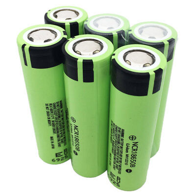 1-6pcs 18650 3400mAh Rechargeable Battery Li-ion NCR18650B High Drain for Mod