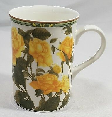 Collector's Series Royal Bone China Yellow Rose Tea Cup Mug Fine Bone China