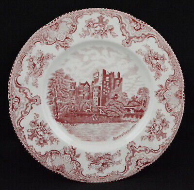 """Johnson Brothers Old Britain Castles Two Pink Dinner Plates (10 1/4"""")"""