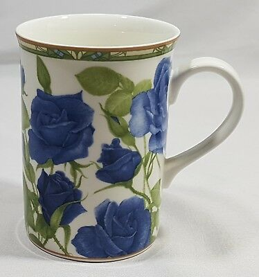 Collector's Series Royal Bone China Blue Rose Tea Cup Mug Fine Bone China