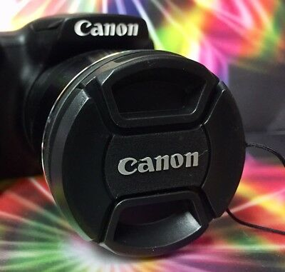 CANON SNAP-ON CENTER-PINCH LENS CAP 52mm +HOLDER to Camera 52 mm filter threads