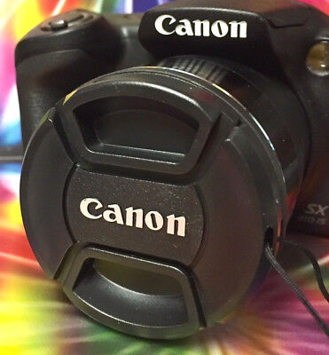 CANON SNAP-ON CENTER-PINCH LENS CAP 58mm +HOLDER to Camera 58 mm filter threads