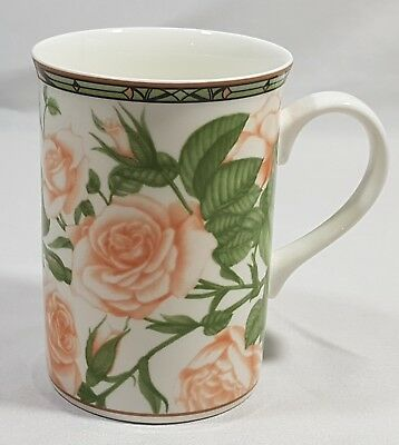 Collector's Series Royal Bone China Peachy Rose Tea Cup Mug Fine Bone China