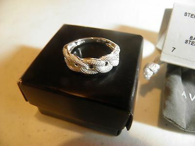 Avon .925 Sterling Silver Cable Link Ring Size 10 New In Box