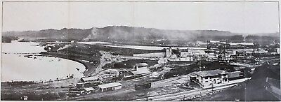 1913 Gatun Dam Panama Canal Lock and Dam Site Printed Photograph ORIGINAL