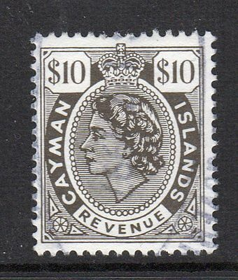 1971 Cayman Islands Revenue Barefoot 11 Perf 14 Very Scarce Area Xf Used