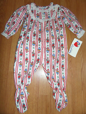 NWT Vintage Lang of Salzburg White Clown Spin Tops Pajamas Size L