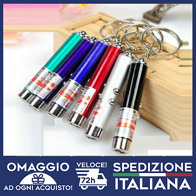 Laser 2in1  TORCIA LED + Puntatore Rosso 5mw  BATTERIE INCLUSE