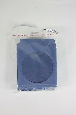100 Pack Premium Thick  Color Paper CD DVD Sleeves Envelope with Window Blue